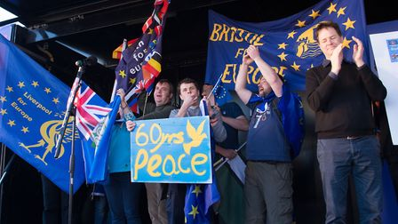 Speakers at the last rally in March included former Deputy Prime Minister Nick Clegg (right). Pictur