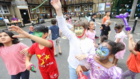 Last of the summer fun on Isle of Dogs' West Ferry Estate before going back to school. Picture: Kois
