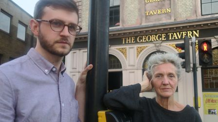 Lawyer Harry Campbell and landlady Pauline Forster ready for the Battle of Jubilee Street. Picture: