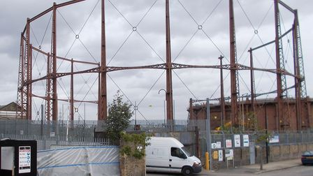 Old Poplar gasworks in Leven Street, set to make way for housing scheme. Picture: Garry O'Keefe