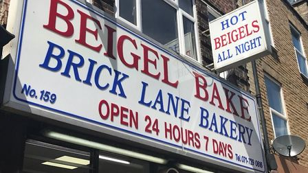 Cohen family's Beigel Bake 24-hour shop in Brick Lane, Bethnal Green. Picture: Mike Brooke