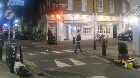 Brick Lane... with rubbish dumped at the kerb and left on the pavement. Picture: Mike Brooke