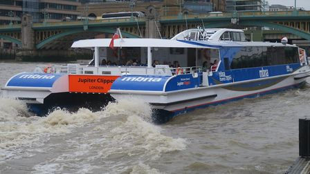 Thames Clipper daily commuter service. Picture: Mike Brooke