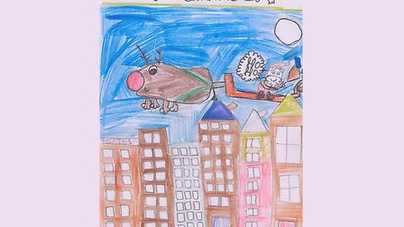 Priyanaka Ghosh's drawing for Children's Services director Debbie Jones's Christmas card. Picture: P
