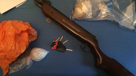 A shotgun was one of the two firerams seized. Picture credit: Tower Hamlets Police.