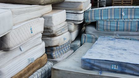 Old mattresses dumped on Tower Hamlets housing estates that could topThe Shard if piled up!Picture