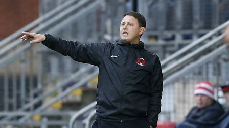 Ross Embleton issues instructions to his Leyton Orient team from the touchline (pic: Simon O'Connor)