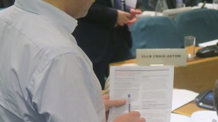 'Propaganda' questionnaire from Old Ford Housing that Cllr Marc Fracis waved at councillors. Picture