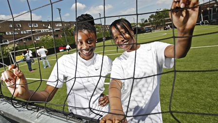 Girls taking part in an Active Communities Network sports project: Picture: Sport Action Zone
