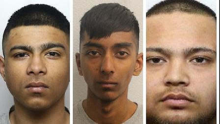 Left to right: Ismail Muhammad Uddin, Samiur Rahman and Nayeem Chowdhury have all been jailed for 18