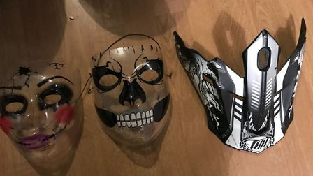 Three face masks suspected of being used in robberies were also seized. Picture credit: Tower Hamlet