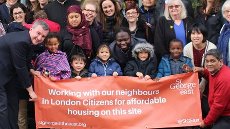 London Citizens' campaign for trust land at Cable Street. Picture: Florence Naluyimba