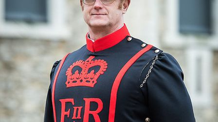 Beefeater Chris Clawson ?is latest recruit to the Tower of London. Picture source: Historic Royal Pa