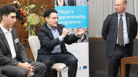 Launch of Tower Hamlets programme creating new apprenticeships. Picture: Kois Miah