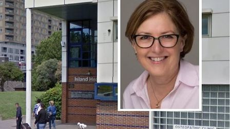 Suzanne Goodband, who chairs Island Health Trust which owns health clinic building on Isle of Dogs.