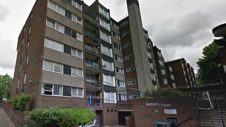 Thames magistrates' slap 'closure' order to outsiders at Bethnal Green's Bentworth Court. Picture so