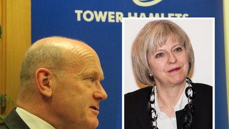 Warning shot from Tower Hamlets Mayor John Biggs about police cuts to PM Theresa May. Picture: Mike