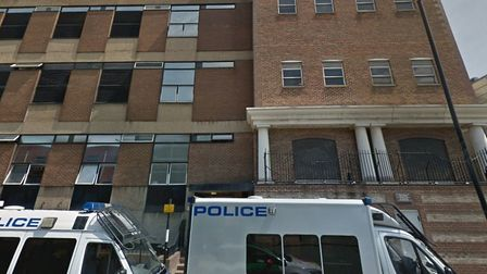 Closed... front-counter service at Limehouse police station. Picture: Google