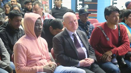 Packed event at Haileybury centre with Mayor Biggs for relaunch of council youth service. Picture: M