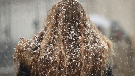 More snow has been falling overnight Picture: Yui Mok/PA Wire