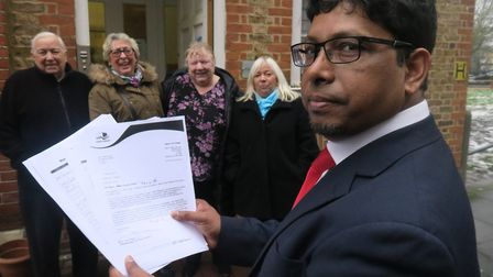 Ohid Ahmed picks up pensioners' petition with plea not to be priced out of Raine's House community c