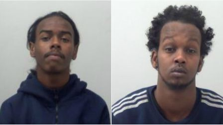 Leban Abdi (left) and Mohammed Hassan took over the home of a vulnerable woman in Basildon to deal d
