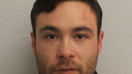 Jeremy Muda, 31, attacked his victim with a carpet knife, lacerating his neck and narrowly missing h
