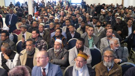 All-male audience section at People's Alliance of Tower Hamlets election manifesto launch. Picture: