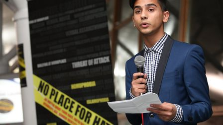 The launch of the No Place for Hate pledge in 2013. Picture: Rehan Jamil