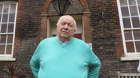 Club secretary Harry White, 78, whose office computers and files have been removed from Rain's House