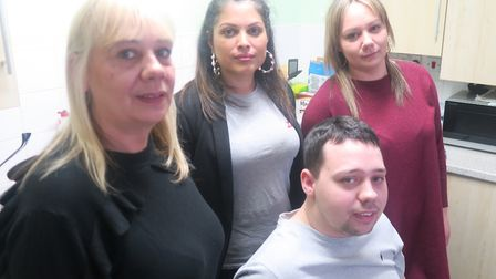 """Natasha Bolter (centre) with the Kempleys... The familys crowdfunding is brilliant, she says, but """""""