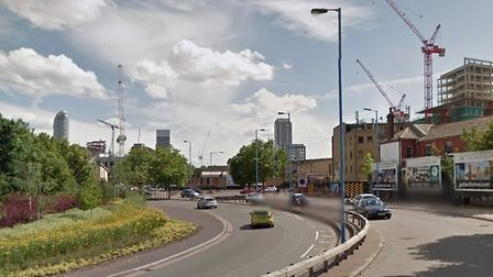A 15-year-old boy was stabbed during an attack in East India Dock Road yesterday. Picture: GOOGLE MA