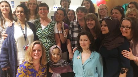Mums and staff at Barkantine birthing centre's 10th birthday party. Picture source: Barts NHS Health