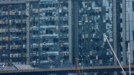 1996... IRA's devastation at Canary Wharf. Picture source: Republic Gallery