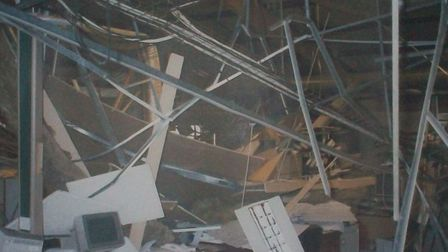 Wreckage at Midland Bank HQ in 1996. Picture source: Republic Gallery