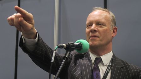 Returning officer Will Tuckley... ready to declare Tower Hamlets election results. Photo: Mike Brook