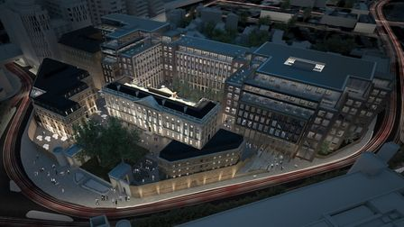 Bird's eye view of Royal Mint site soon to be China's new UK embassy. Picture source: Delancey devel
