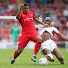 Leyton Orient youngster Josh Koroma gets past a Wrexham opponent (pic: Simon O'Connor).