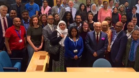 The new Labour group at the town hall which won 42 of the 45 Tower Hamlets council seats in their la