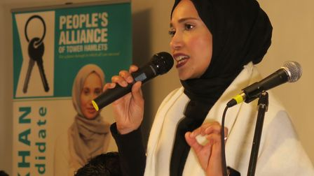 """People's Alliance opposition Cllr Rabina Khan... """"Labour's first act is lining their own pockets."""" P"""