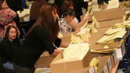 Tellers at a previous election, counting the votes. Picture source: LBTH