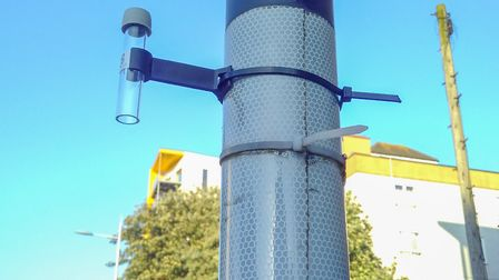 Using the 'tube' to monitor air quality at Bow Common Picture source: Reclaiming Streets