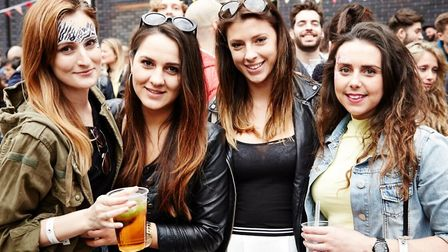 Four belles at last year's Bank Holiday street fest at Bethnal Green. Picture source: Star of Bethna