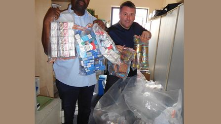 Trading standards officers seize £8,000 of illicit tobacco. Picture source: LBTH