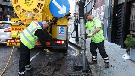 Everything is getting 'the Big Clean' treatment... even the drains! Picture source: LBTH