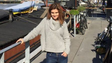 Jo Cox at her home in Hermitage Moorings in Wapping. Picture: BRENDAN COX