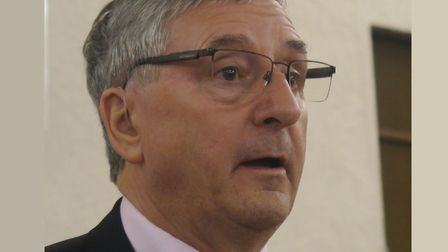 Poplar & Limehouse MP Jim Fitzpatrick addressing Isle of Dogs public protest meeting in October 201