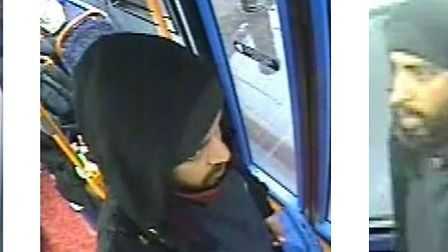 Images of man police want to speak to in connection to the flashing incident. Picture: Met Police