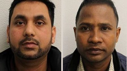 Iftehar Ahmed (left) and Zakir Hossain... banged up for 17 years between them for receiving stolen m