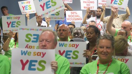 'Yes' to Chrisp Street redevelopment... packed public gallery sees Tower Hamlets Council pass scheme